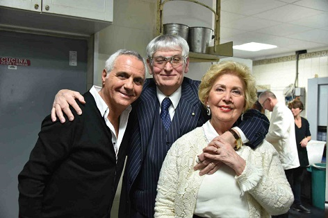 Panariello con Gherardo e Carla Guidi a la capannina di franceschi