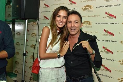 Alessia Reato e Stefano Busa capannina vip versilia