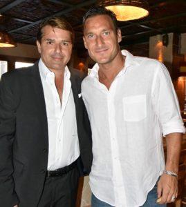 la capannina di franceschi Maurizio Laudicino e Francesco Totti