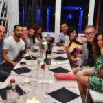 cena tra amici ostras beach club