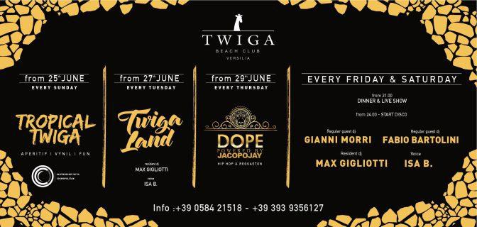 programma twiga beach discoteca
