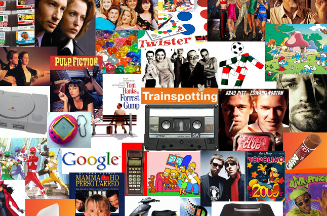 icone e musica anni 90