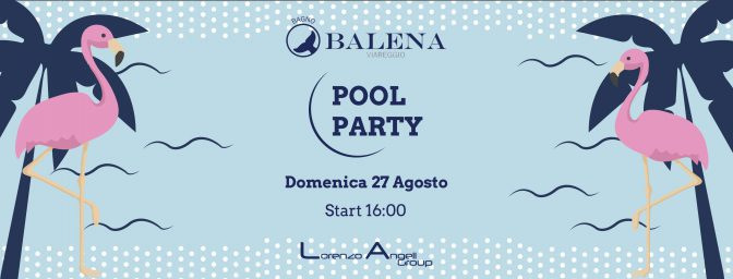 pool party bagno balena