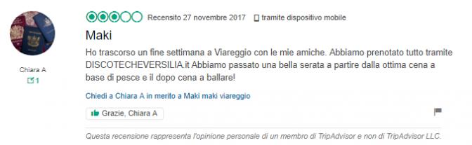 recensione maki maki viareggio+