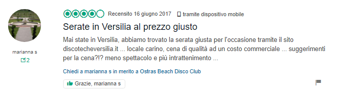 recensione ostras beach club