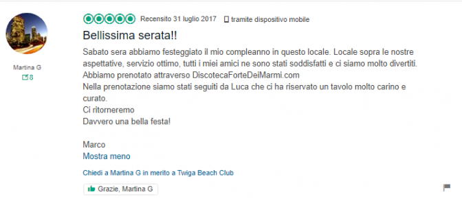 recensione twiga discoteca