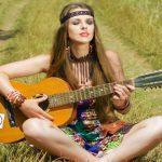 bella ragazza hippie