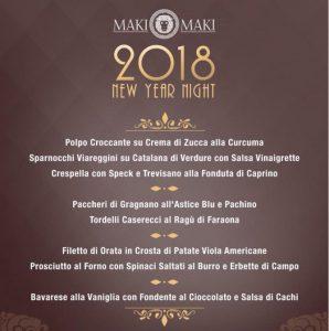 menu capodanno maki maki
