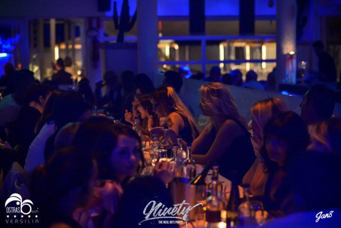 cena foto discoteca ostras