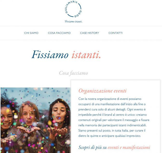 sito organizzazione eventi treviso