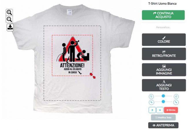 come creare una magliette addio al celibato personalizzate