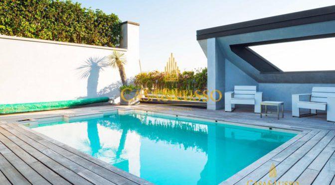 attico con piscina milno casa&lusso