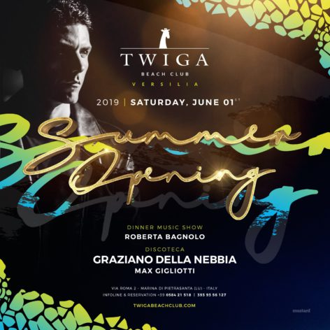 inaugurazione sabato twiga beach discoteche versilia