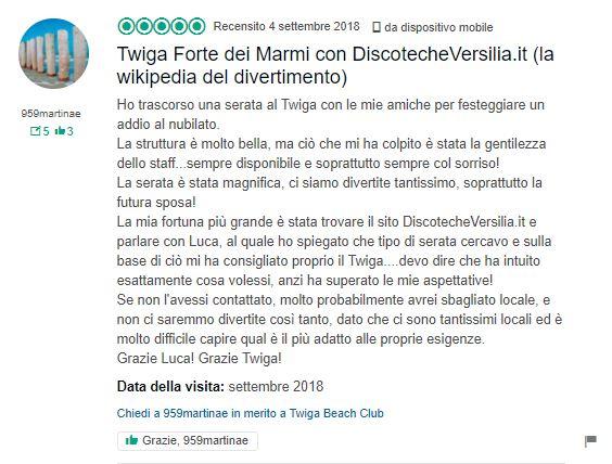 recensione twiga beach