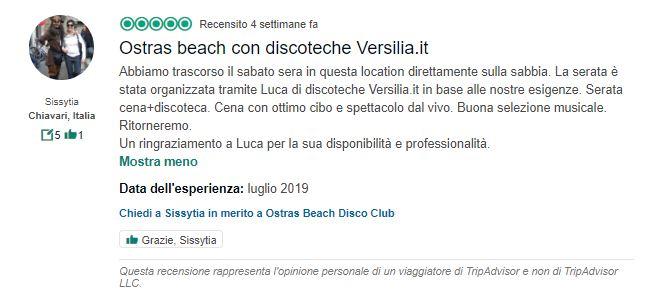 recensioni ostras beach