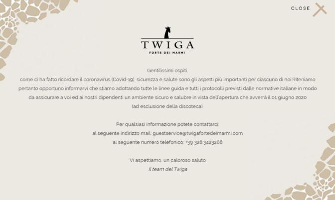 apertura twiga ufficiale