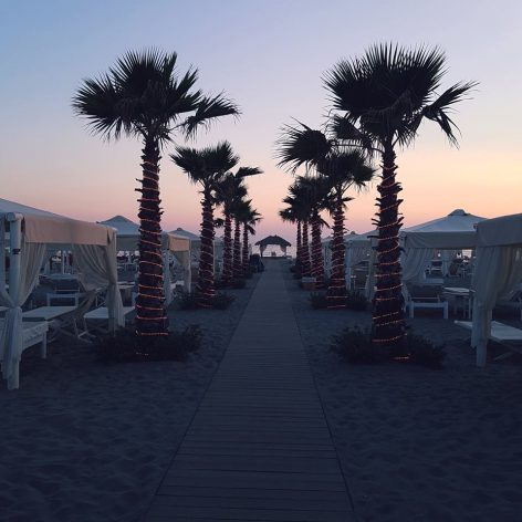 tramonto spiaggia twiga forte dei marmi